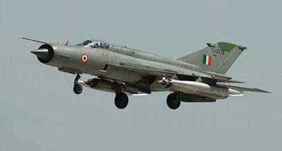 वायु सेना का एक मिग-21 बाइसन लड़ाकू विमान कल शाम दुर्घटनाग्रस्त