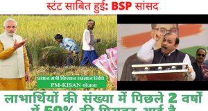प्रधान मंत्री किसान सम्मान निधि भी चुनावी स्टंट साबित हुई: BSP सांसद
