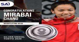 Mirabai Chanu secures first medal for India at Tokyo Olympics