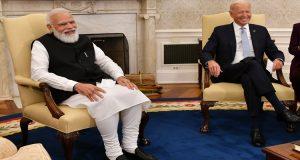 PM Modi meets US President  Biden at White House