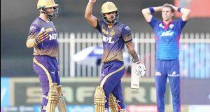 आई पी एल क्रिकेट में कोलकाता नाइट राइडर्स ने दिल्ली कैपिटल को तीन विकेट से हराया