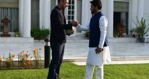 Sports Minister Anurag Thakur meets CEO of FIFA Youri Djorkaeff in New Delhi